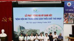 Bệnh viện Nhi Trung ương tổ chức Lễ phát động và triển khai ký cam kết giảm thiểu chất thải nhựa trong y tế