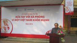 """Lễ phát động chiến dịch """"Rửa tay với xà phòng vì một Việt Nam khỏe mạnh"""" tại tỉnh Bắc Ninh, năm 2014"""