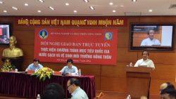 Giao ban trực tuyến về việc triển khai Chương trình mục tiêu quốc gia Nước sạch và Vệ sinh môi trường nông thôn.