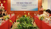 Hội nghị tổng kết Dự án cải thiện vệ sinh cộng đồng dựa trên kết quả (Washoba)