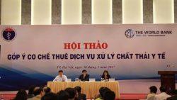 Hội thảo góp ý cơ chế thuê dịch vụ xử lý chất thải y tế