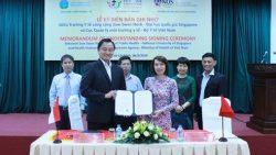 Lễ ký kết biên bản ghi nhớ giữa Cục Quản lý môi trường y tế, Bộ Y tế Việt Nam và Trường Đại học Y tế công cộng Saw Swee Hock-Đại học quốc gia Singapore
