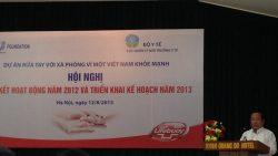 Hội nghị Tổng kết Dự án Rửa tay với xà phòng vì một Việt Nam khỏe manh năm 2012