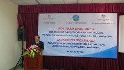 """Hội thảo triển khai Dự án : """"Cải thiện vệ sinh môi trường dựa vào kết quả đầu ra – WASHOBA"""""""