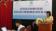 Hội thảo chia sẻ kinh nghiệm thực hiện dự án cải thiện vệ sinh cộng đồng dựa trên kết quả- WASHOBA
